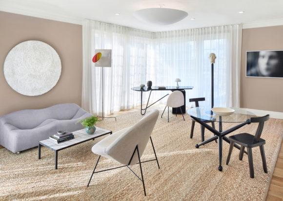 Interior design by 2michaels at the 2016 Holiday House Hamptons. Photograph by John Muggenborg.